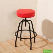 《DFhouse》麥肯基-泡棉旋轉吧椅(紅色)