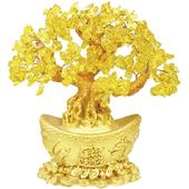 黃水晶元寶樹(小)(T8017)