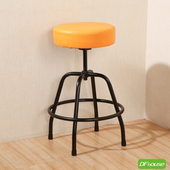 《DFhouse》麥肯基-泡棉旋轉椅(黃色)