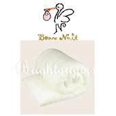 《Bonne Nuit》雪柔綿寶寶浴巾/枕巾 (90x50cm)(柔白色)