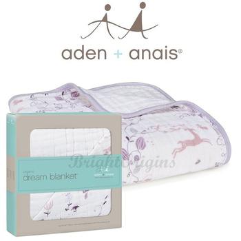 《美國Aden+Anais》有機棉四層厚毯(9143粉紫童話)