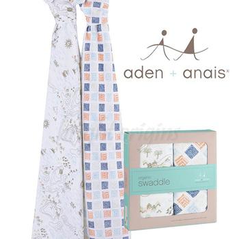 《美國Aden + Anais》有機棉包巾(二入裝)(地平線9501)