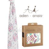 《美國Aden+Anais》竹纖維毯子包巾(一入裝)(花漾圖騰8940)