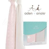 《美國Aden+Anais》法蘭棉絨包巾(2入裝)(清星粉14000)