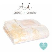 《美國Aden+Anais》金蔥款竹纖維四層厚毯(9320櫻粉飄雪)