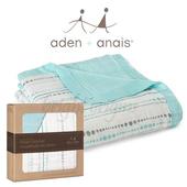 《美國Aden+Anais》竹纖維四層厚毯(9301藍色小水滴)
