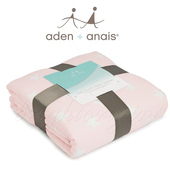 《美國Aden+Anais》法蘭棉絨厚毯(16000清星粉)