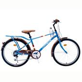 《BIKEONE》L5 2621MAN 26吋21速 日本SHIMANO變速淑女車咖啡車 低跨點設計都會時尚通勤新寵兒-(藍色)