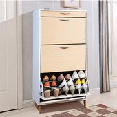 《C&B》第二代日式大容量薄型三層鞋櫃(清新楓木)