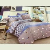 《附小抱枕套》超細鋪棉兩用被床罩組-花色隨機出貨(雙人150X186cm)