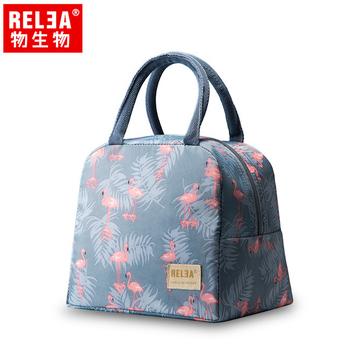 【香港RELEA物生物】 保溫保冷兩用提袋(火鶴款)