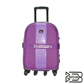 《BATOLON寶龍》【25吋】都會風尚加大六輪旅行箱/行李箱/拉桿箱(紫色)