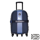 《BATOLON寶龍》【25吋】都會風尚加大六輪旅行箱/行李箱/拉桿箱(藍色)