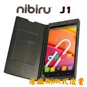 《Nibiru》J1原廠側掀式皮套(黑)