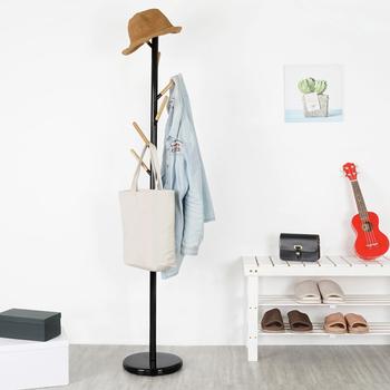 《Homelike》艾莉森樹狀衣帽架(二色)(曜石黑)