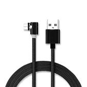 《ThL》L型磁吸3合1充電線(IOS/安卓/TypeC)(黑色)