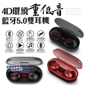 《SOYES》藍牙5.0重低音真無線雙耳藍牙耳機J29(紅色)
