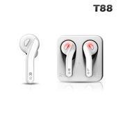 《SOEYS》藍牙5.0震憾雙耳立體聲無線耳機T88(白色)