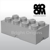 《丹麥 Room Copenhagen》樂高 LEGO® 8格收納盒(灰色40040640)