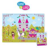 《gibby&libby》63片拼圖(公主城堡)