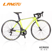 《LANGTU》KCR830 SHIMANO SORA 18速 鋁合金 公路車(入門款首選)(黄/黑色-480mm)