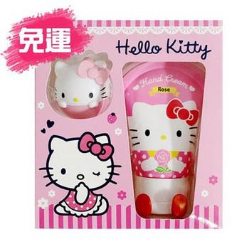 (3盒免運) Hello Kitty護手霜+護唇球禮盒組