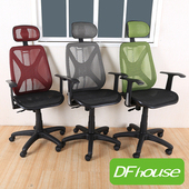 《DFhouse》漢娜全網人體工學辦公椅(標準) - 6色可選(黑色)