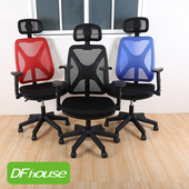 《DFhouse》凱菲人體工學辦公椅(全配) - 5色可選(黑色)