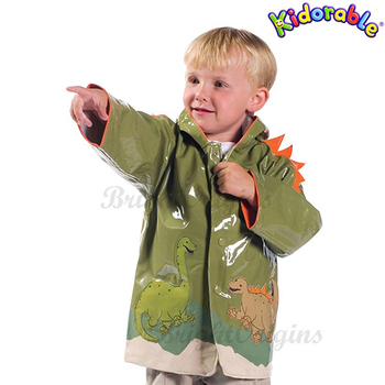 《美國Kidorable》童趣雨衣 4T(恐龍款)