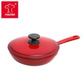 《摩堤MULTEE》20cm鑄鐵單柄煎鍋(紅)