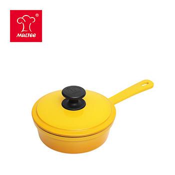 《摩堤MULTEE》16cm單柄煎鍋+蓋(漸層黃)