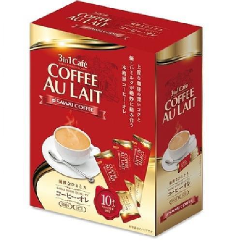 《澤井》3 in1 Caf'e-咖啡歐蕾(10包/袋)