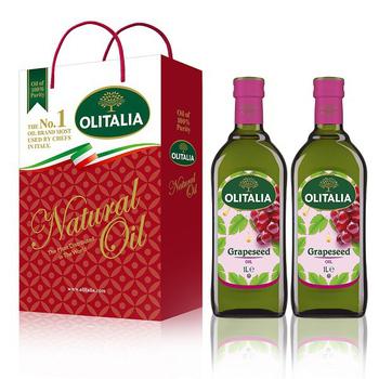 《Olitalia奧利塔》葡萄籽油禮盒組(1000ML/瓶;2瓶/盒)(1組)