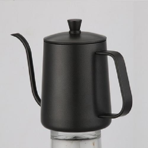 手沖咖啡細口壺 600ml/個(含蓋-黑色)