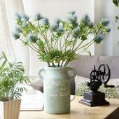 《仿真花》刺芹 長約60cm(藍色)