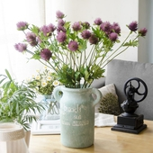 《仿真花》刺芹 長約60cm(紫色)