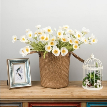 仿真花 罌粟花 長約60cm(白色)
