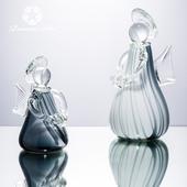《Novella Amante》天使玻璃擺飾-霧灰10xH25cm $750