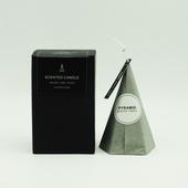 霧黑錐形五角冰花香氛蠟燭