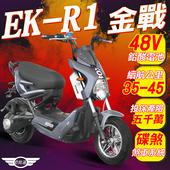 《e路通》(客約)EK-R1 金戰 48V鉛酸 800W LED大燈 液晶儀表 電動車 (電動自行車)(灰色)