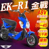 《e路通》(客約)EK-R1 金戰 48V鉛酸 800W LED大燈 液晶儀表 電動車 (電動自行車)(藍色)