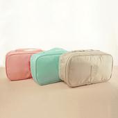《韓版》奇檬子俏皮防潑水旅行雙層收納內衣收納包(粉色)