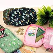 《韓版》多彩繽紛隨身收納手提大包/護照包/證件包(粉色)