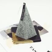 蠟燭杯墊(方形(黑+金))