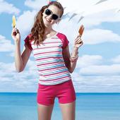 《SARBIS》泡湯 SPA 兩截式泳裝附泳帽B92660-07(XL)
