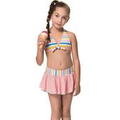 《SARBIS》泡湯 SPA女童兩截式比基尼泳裝附泳帽B82828(8)
