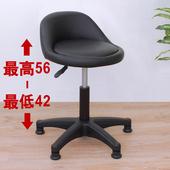 《E-Style》高級皮革椅面(固定腳)工作椅/升降椅/旋轉椅/餐椅/洽談椅-黑色(黑色)