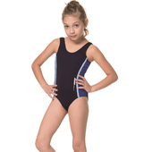 《SARBIS》泡湯 SPA女童連身三角泳裝附泳帽B2107(12)
