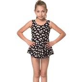 《SARBIS》泡湯 SPA女童連身裙泳裝附泳帽B2069(12)
