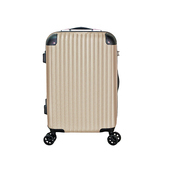 《BATOLON寶龍》混款ABS加大硬殼箱/行李箱 〈24吋〉(精彩奇蹟 香檳金)